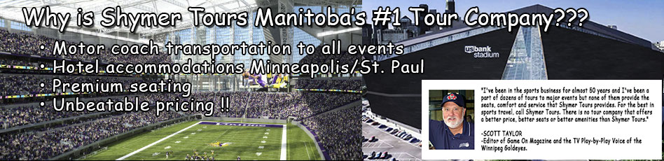 Winnipeg to Minnesota Vikings bus tours