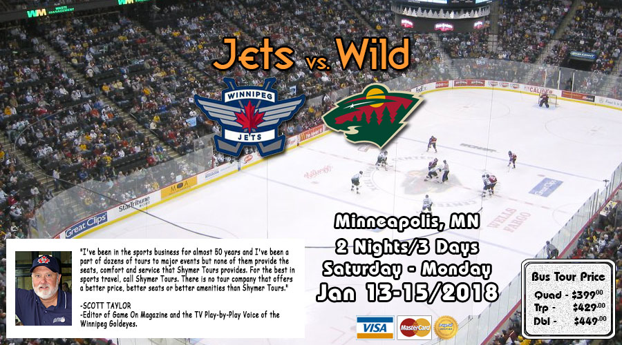 Jets VS Wild Jan 12-14/2017 bus tour