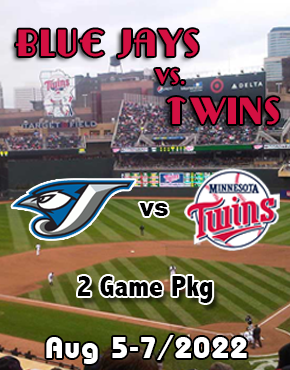 Winnipeg to Minneapolis Blue Jays vs Twins July 10-12/2020
