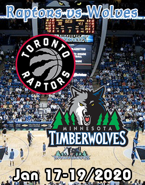 Winnipeg to Minneapolis Timberwolves vs Raptors jan 17-19/2020
