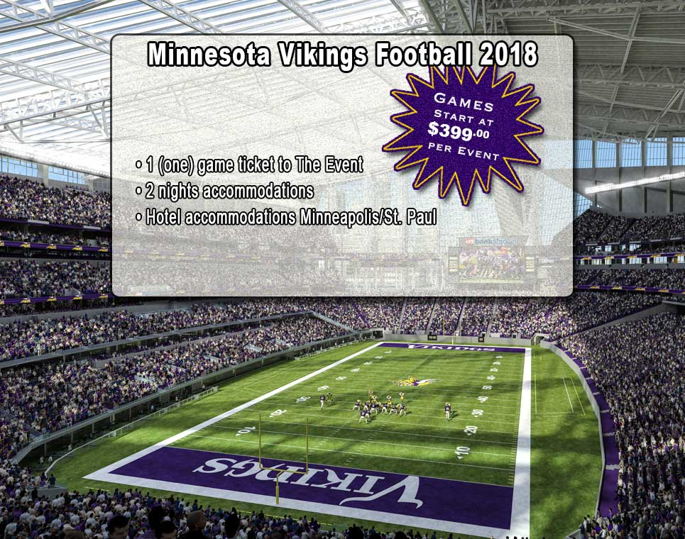 Shymer Tours is your Winnipeg to Minnesota Vikings NFL Football bus tour sporting event tour company
