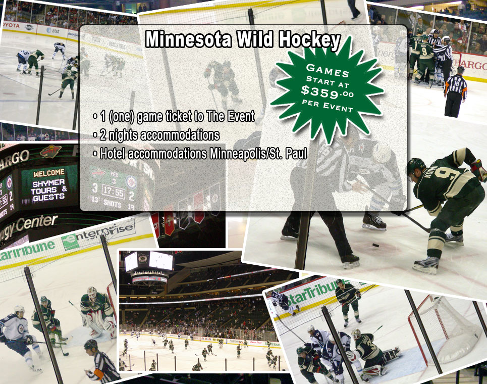 Shymer Tours is your Winnipeg to Minnesota Wild NHL Hockey bus tour sporting event company